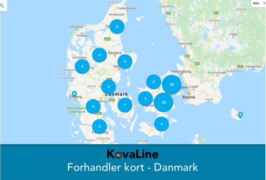 KovaLine - Vores forhandlere